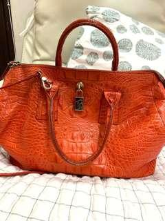 Furla alligator handbag 鱷魚皮手袋