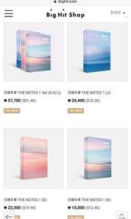 BTS 花样年华 The Notes 1 Help Buy Service