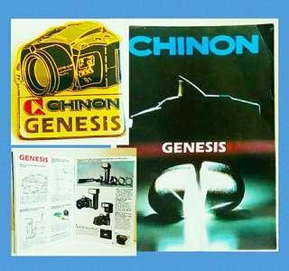 罕有绝版:菲林相機年代CHINON 纪念版襟章❌Catalog (歲月收藏品)