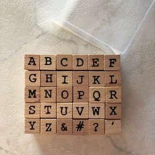 Alphabet letter Stamps