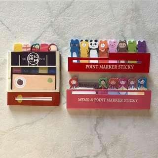 Daiso sticky notes/tabs