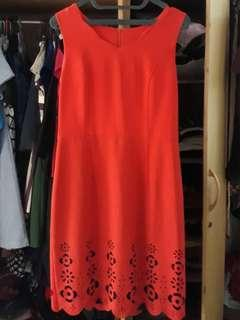 Dress Dark Orange
