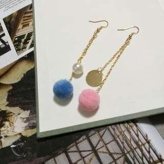 Asymmetric Temperament Tassel earrings