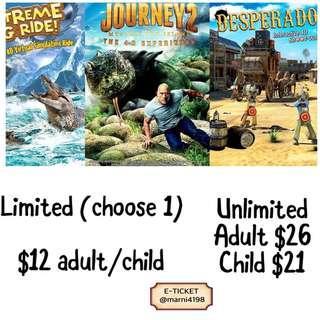 4D Adventureland Open Date Etickets