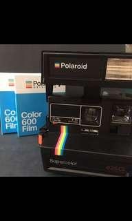 Polaroid 635 CL 彩虹機即影即有 + 兩包600相紙