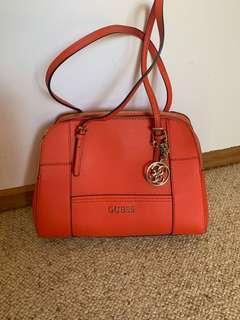 Guess orange/ red handbag