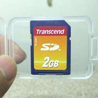 [限量] 創見Transcend 2G ◎ SD 記憶卡,原廠終身保固