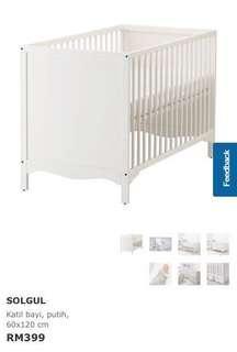 Ikea Baby Cot (complete set)