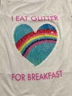 Glitter interactive tee