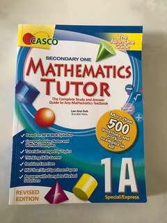 Secondary 1 mathematics Tutor