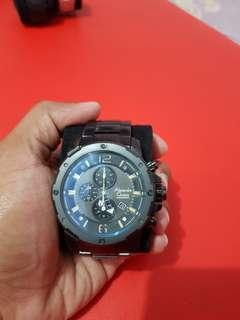 Jam Tangan Alexandre Christie AC6410 MC Full Black ORI