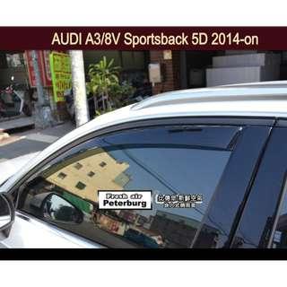 晴雨窗 崁入式 比德堡嵌入式晴雨窗 奧迪Audi A3/8V Sportback 5D 2014年起專用