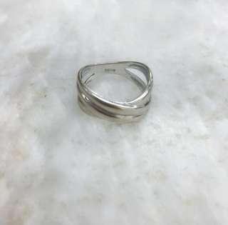 14K Japan White Gold Ring Eternity Design