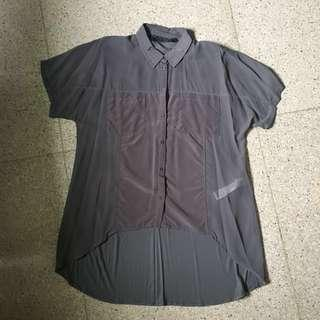 ZARA basic grey shirt/ kemeja / atasan #onlinesale #onlineparty