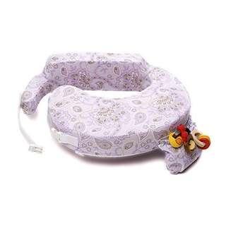 My Brest Friend nursing breastfeeding pillow purplish Petal Paisley purple