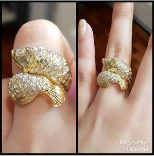 Arowana Full of Diamonds Lucky ring