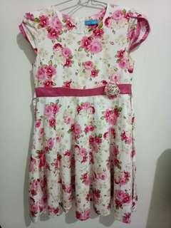 Dress anak flower pink