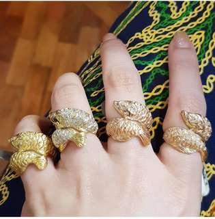 Arowana Lucky Diamond rings