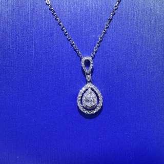 18K 鑽石💧頸鏈