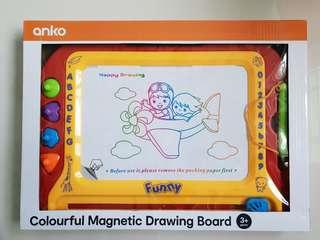 Colorful magnetic drawing board for children
