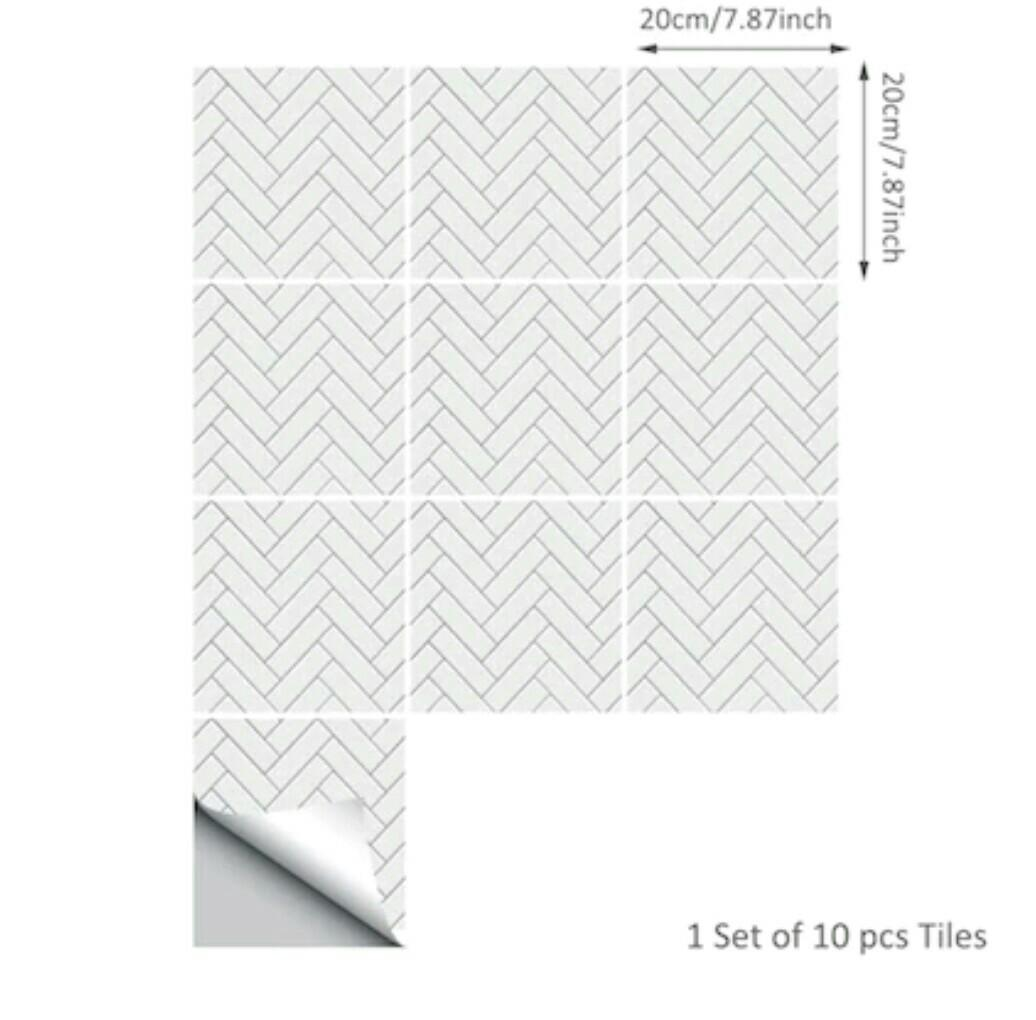 10pcs/set Herringbone Wall Sticker (self adhesive)