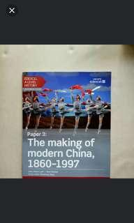 🚚 Edexcel A Level history textbook: The Making of Modern China