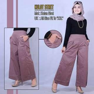 All Size fit to XXL CELANA KULOT STRET PREMIUM BAHAN KATUN POPLIN BEST SELLER