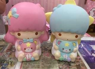 Authentic Sanrio Little twin stars Kiki Lala Giant squishy [Selling as a SET only]