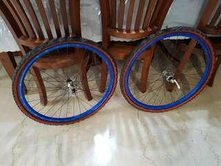 Price reduced ~ 26inch Wheelset with Shimano Deore XT hubs