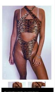 Leopard body suit (sassy pants)