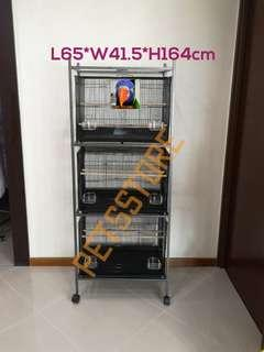 3-tier cage rack & cages
