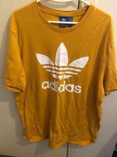 Orange Adidas tee