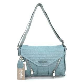 Kipling Ori Ready Now Embosed Shoulder Bag - Blue Tosca