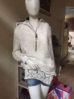 Transparant blouse