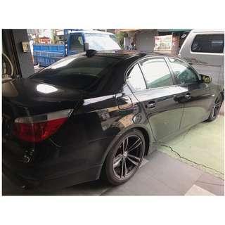 [晴雨窗][崁入式]比德堡嵌入式晴雨窗 寶馬BMW E60 New 525i  2003-2010年專用 賣場有多種車款