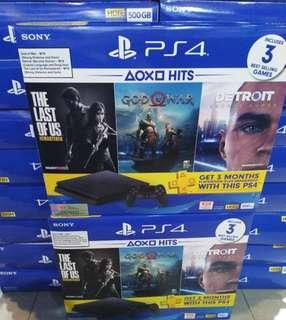 PS4 Slim Hits Bundle (God of war/Detroit become human/Last of us!) trade in deal!