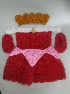 Princess Aurora Crochet Dress