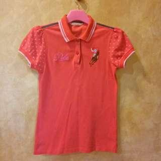 Girl's Polo T-shirt#CNYRED