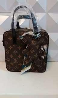 LV 2in1 Bear Chain+Bag+Scarf