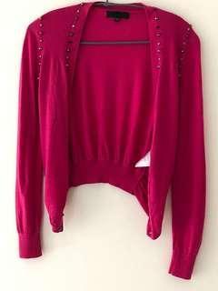 🚚 黃淑琦桃紅色羊毛外套