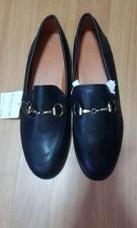 Black korean covered shoes