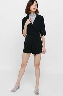 BNWT Love Bonito Bemi Belted Playsuit Black Romper Vest Wrap
