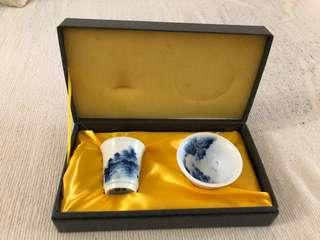 Chinese tea cup set
