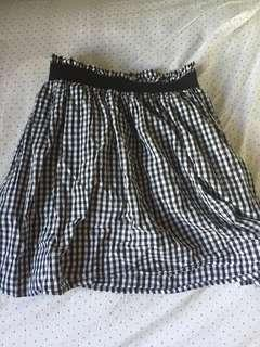 Vintage checkered skirt