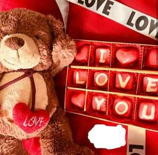 PARSEL TEDDY KALUNG LOVE YOU + SEKAT 12
