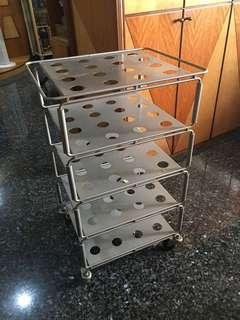 Ikea 5 tiers steel tray with wheel