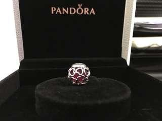 Pandora Charm - Cerise Encased in Love
