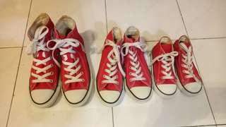 Converse All Star high cut#CNYRED