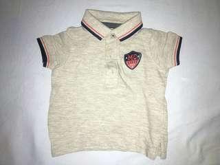 Mothercare Grey Polo Shirt