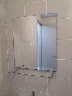 Toilet Mirror with shelf